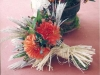 Natural bridal bouquet finished with raffia