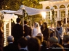 Hand held birch pole chuppah at the Belvedere Mansion