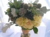 Bridal bouquet with mens boutonnieres at The Belvedere Mansion