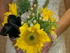 Liz bouquet of gorgeous sunflowers, herbs, berries and calla lilies