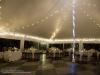 Tent all lit up for romance and elegance at the Belvedere Mansion