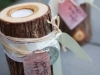 Birch containers for their place cards - gorgeous