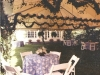 Gorgeous English Garden design with tents completely finished with handmade ropings and flora